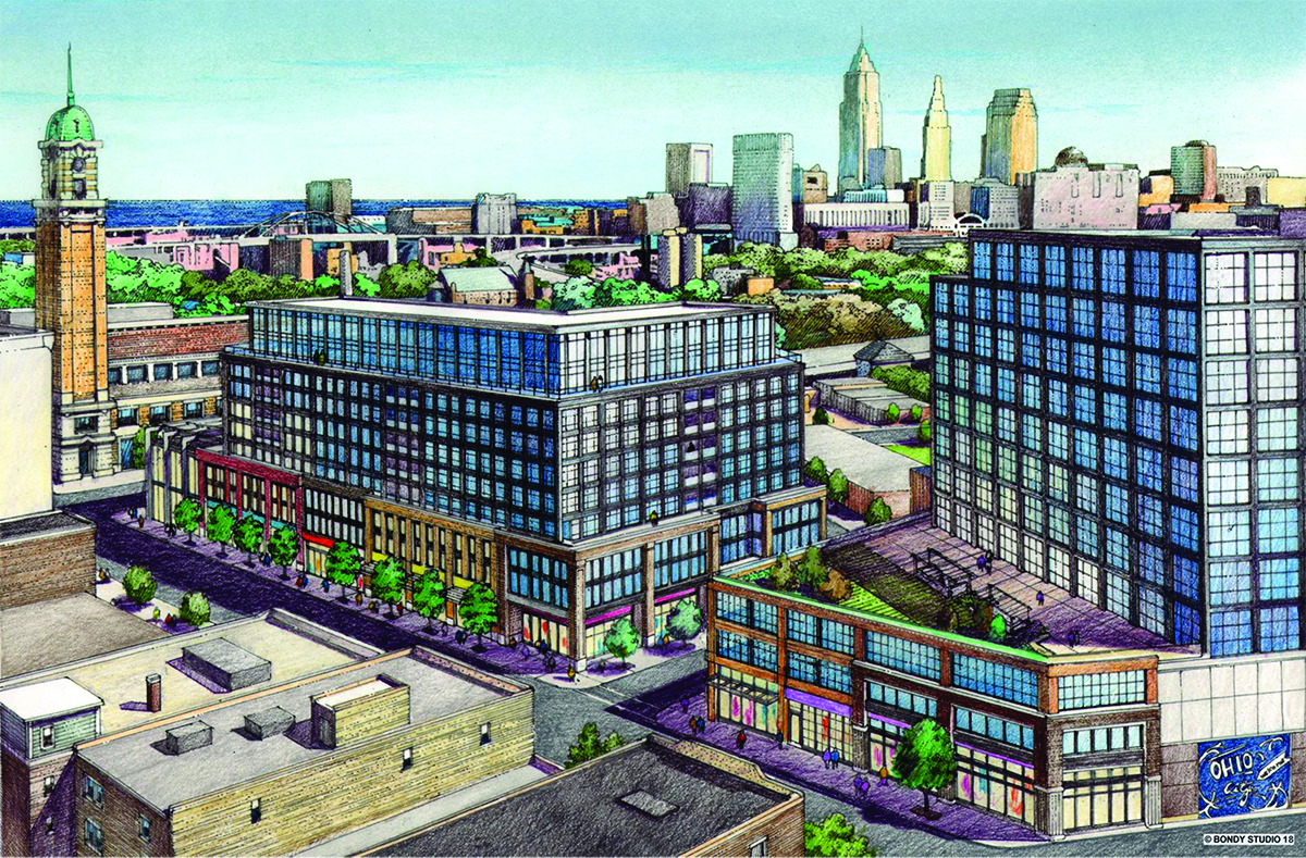 office test certification proposed ohio city building to test cleveland office market